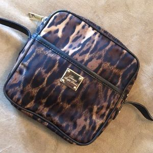 Ralph Lauren brown animal print nylon Crossbody